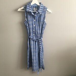 Vineyard Vine Blue Gingham Collared Dress #215